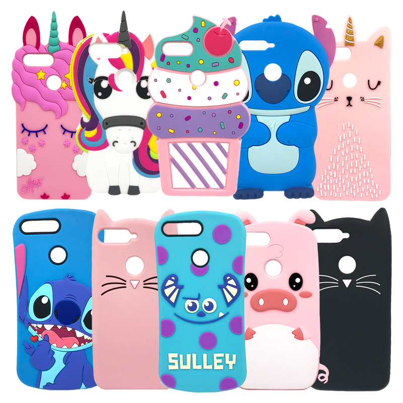 Cute 3D Stitch Cat Bag For Huawei Y6 2018 / Y6 Prime 2018 Case Silicon Cover Coque Funda For Huawei On Honor 7A Pro Phone Cases