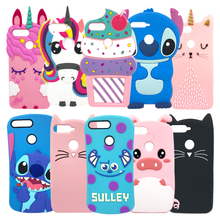 Cute 3D Stitch Cat Bag For Huawei Y6 2018 / Prime Case Silicon Cover Coque Funda on Honor 7A Pro Phone Cases