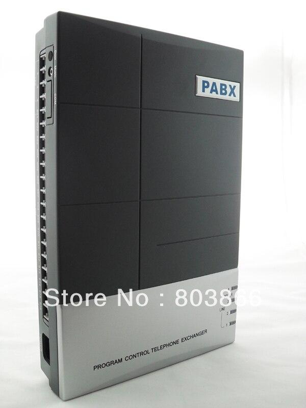 China pbx maufacturer supply VinTelecom CS416 Office Phone PBX PABX switch 4 lines 16 output Ext