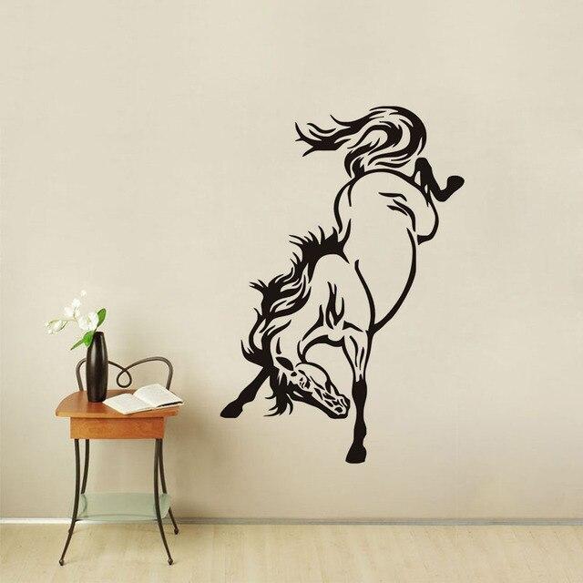 Moderne Wandtattoos dctop mode design schönes pferd wandaufkleber kunst vinyl mustang