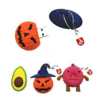 y Creative Halloween Pumpkin Beast   Doughnut  USB 8GB 16GB 32GB 64GB Flash Memory Stick Pen Drive Disk For Gift