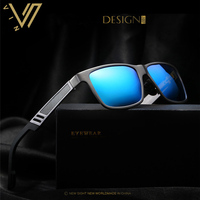 Мужские алюминиевые поляризованные мужские солнцезащитные очки Зеркальные Солнцезащитные очки Квадратные очки аксессуары для мужчин и же