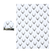 2pcs Newborn Infant Baby Soft Warm Cotton Deer Pattern Swaddle Blanket+Hat Boy Coming Home Cotton Bath Towel