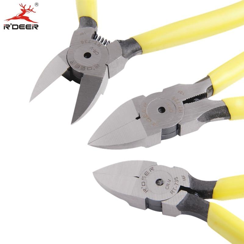 """RDEER 5 """"/ 6"""" pjovimo žnyplės Daugiafunkcinio įrankio kabelio pjaustytuvo viela Stripperio šoniniai pjaustytuvai Elektriko rankiniai įrankiai"""
