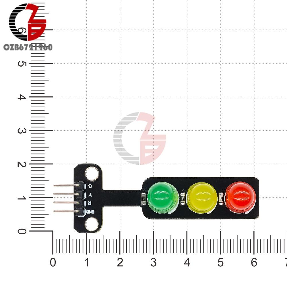 DC 5V Мини светодиодный светильник, модуль 5 мм, красный, желтый, зеленый цвет, светодиодный дисплей для Arduino