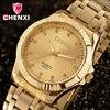 CHENXI Fashion Men Dress Business Watch Men S Luxury Gold Quartz Waterproof Simple Diamond Analog Watches