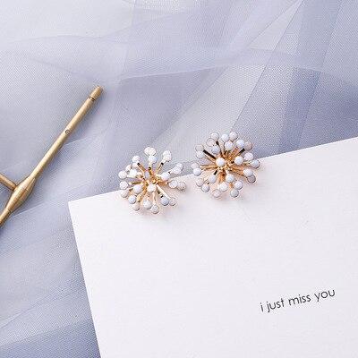 AOMU coréen bleu géométrique acrylique irrégulière cercle creux carré balancent des boucles d'oreilles pour les femmes en métal bosse fête plage bijoux 14