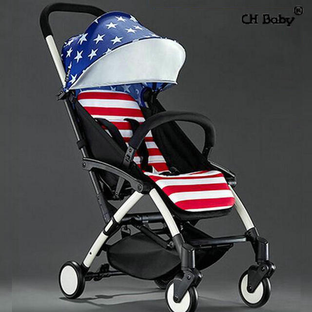 CH Baby Aluminum alloy frame baby stroller ultra light portable umbrella pram fold in plan box baby travel carriage
