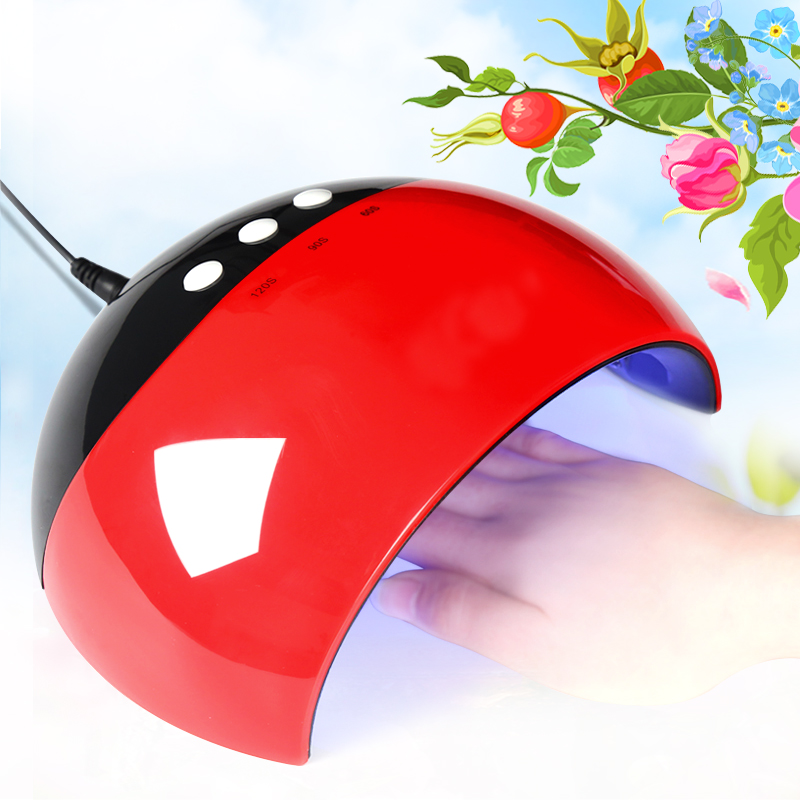 24W UV LED Nail lamp USB Charge Nail Dryer for Gel Polish Varnihs Curing with 60/90/120s Timer Quick Dry Manicure Nail Art Tools