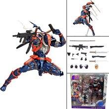 Deathstroke figura incrível yamaguchi revoltech deathstroke figura de ação modelo brinquedo boneca presente