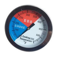 Mayitr Stainless BBQ Smoker Grill Thermometer Barbecue Charcoal Temperature Gauge 100-550 Degrees Fahrenheit For Kitchen Tool mayitr 100