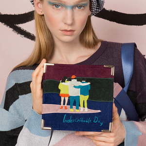 Image 5 - YIZISTORE Bolsos de mensajero retro con bordado de fieltro para mujer, de cuero PU vintage, para un día, Serie 2, 2018[FUN KIK]