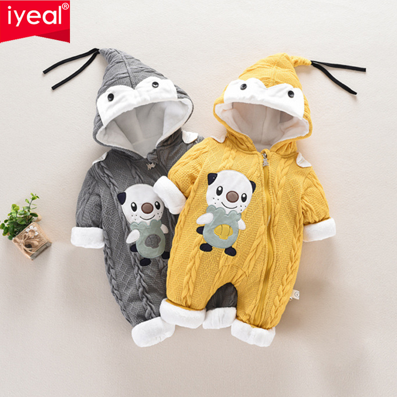 IYEAL New Baby Romper Cute Cartoon Panda Baby Winter Clothes Infant Girl Boy Jumpers Kids Baby Outfits Clothes Baby Costume iyeal new spring autumn baby rompers cartoon christmas deer cotton sweater infant girl boy jumpers kids baby outfits clothes