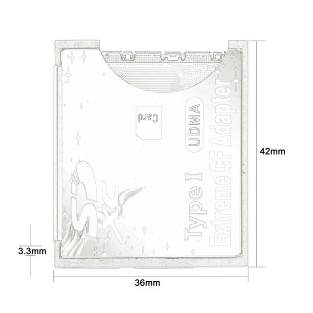 100% haute qualité unique Slot extrême pour Micro SD/SDXC TF à Compact Flash CF Type I lecteur de carte mémoire graveur adaptateur plus récent 5