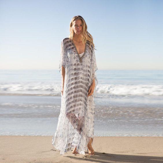 Boho Dresses Chic Women Vintage Dress Plus Size Long Trendy Summer Casual Beachwear Maxi Tunic Ladies Loose Dress V Neck Chiffon