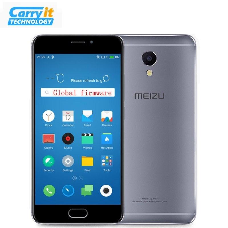"""Цена за Оригинальный Meizu M5 Note 16GB 3GB Глобальная версия OTA M621H Мобильный телефон Android Helio P10 Октава Core 5.5 """"13MP отпечатков пальцев 4000mAh"""