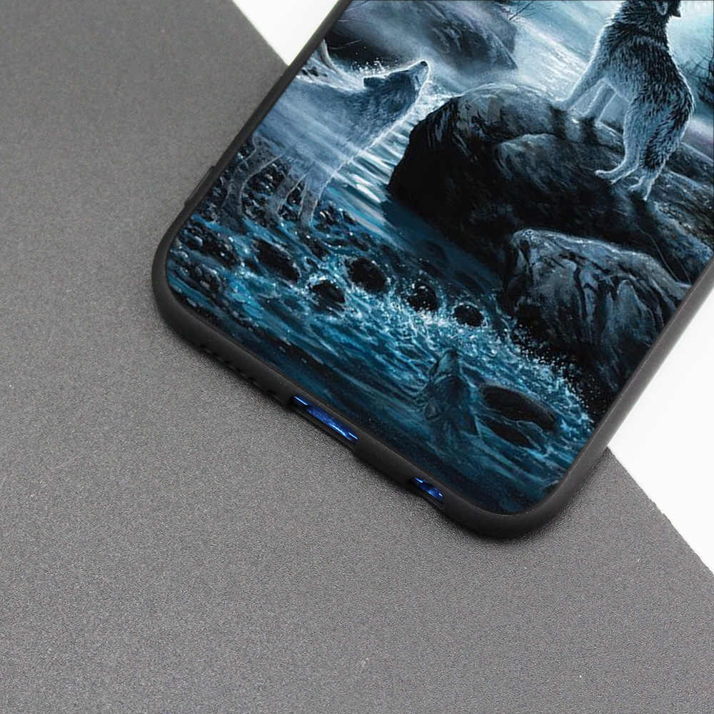 Silicone Case Cover for Huawei P20 P10 P9 P8 Lite Pro 2017 P Smart+ 2019 Nova 3i 3E Phone Cases Wolf dragon animals