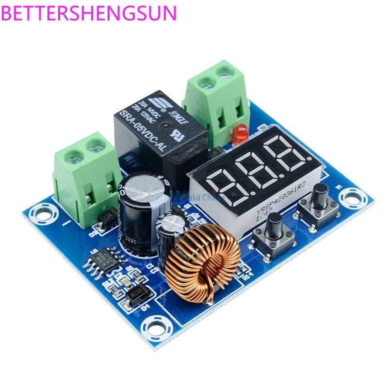 XH-M609 DC 電圧保護モジュールリチウムバッテリー低電圧損失、低電源切断出力 6-60 V