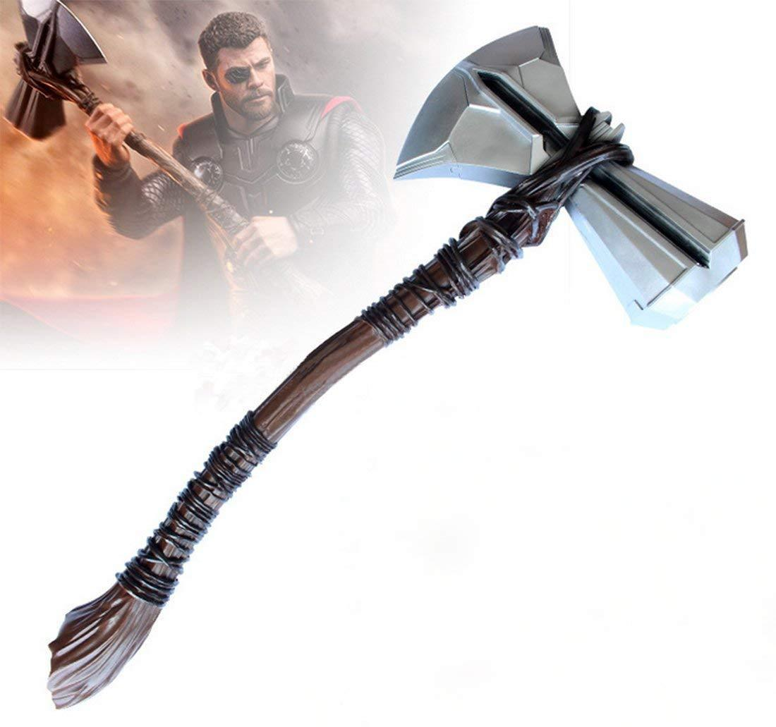 14 Inch Thor Stormbreaker Axe with Stand Hammer Mjolnir Replica Resin Replica