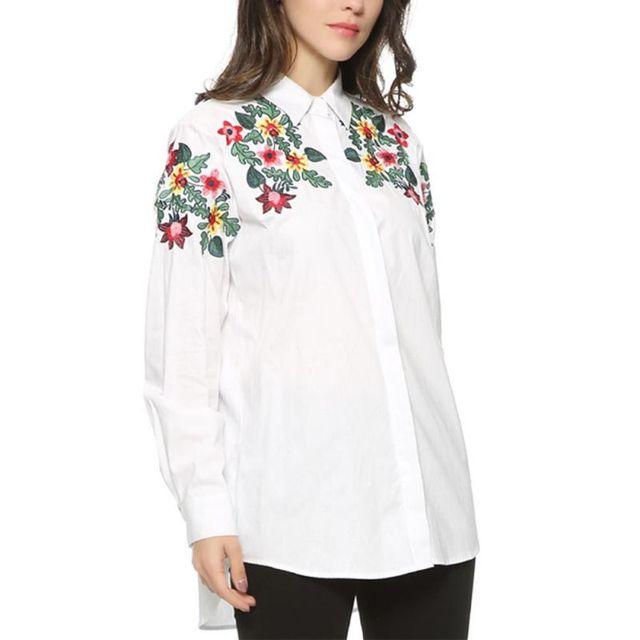 28969cf89 Oioninos-Mujeres-Floral-Bordado-Blusa-B-sica-Camisa -Blanca-Delgada-Ocasional-Tops-Casual-Manga-Larga-Blusas.jpg_640x640.jpg