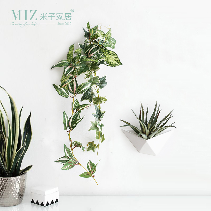 Miz 1 Piece Hanging Wall Vase Decorative Plant Pot Small Vase DIY Flower Pot for Wall Decoration Interior Accessories
