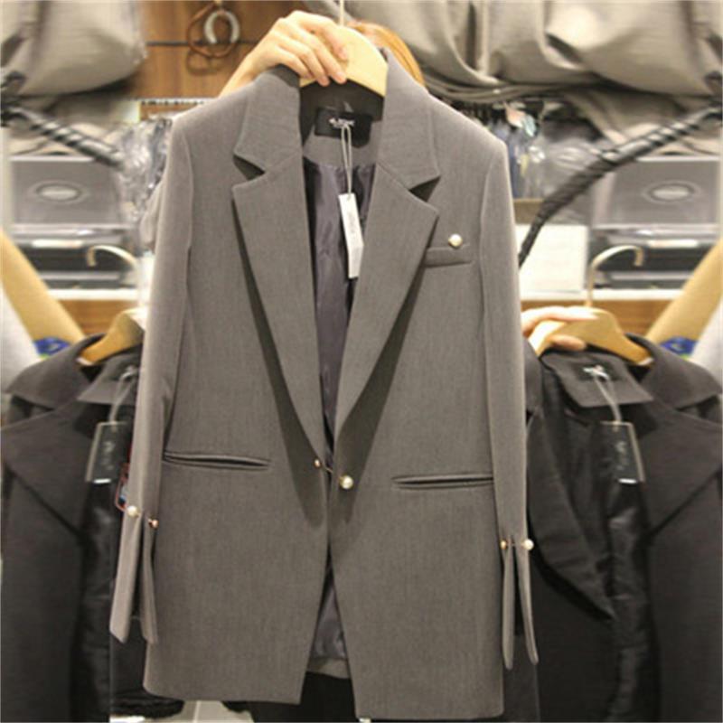 Vente chaude Femmes Blazers Et Vestes Printemps Automne Casual Longues Femmes Convient À Une Large Taille Solide Femme Veste Grande Taille XL-5XL