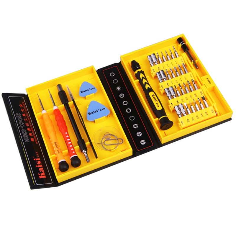 цена на Kaisi multipurpose 38 in 1 Precision Screwdrivers Kit Opening Repair Phone Tools Set for