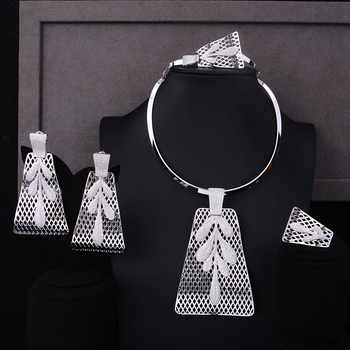 4PCS Big Pendant  Jewelry Set  3