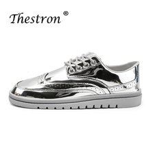 New Arrival Leather Casual Shoes Men Brand Waterproof Non Slip Designer Sneakers Popular Silver Spring Autumn Cheap