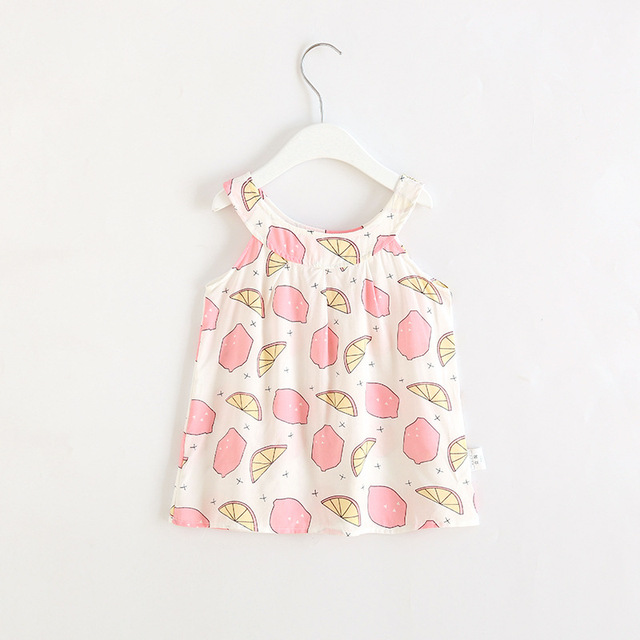 2019 Hot Summer Baby Girl Dress Sleeveless Floral Dress Small Fresh Sweet Style Kids Clothes 2-8 Years 3