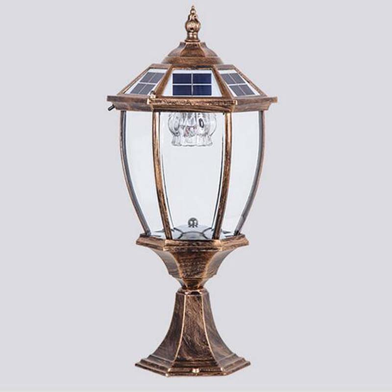 Solar Garden Fence Aluminum Pillar Headlights Outdoor Super Bright Waterproof Garden Villa Emergency Glass Wall Headlights FG200