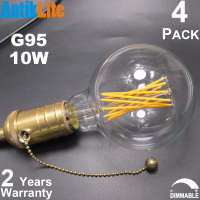 230VAC 40 60 75 100 Watt Incandescent Equivalent G95 E27 Antique Thread LED Filament Replica Edison