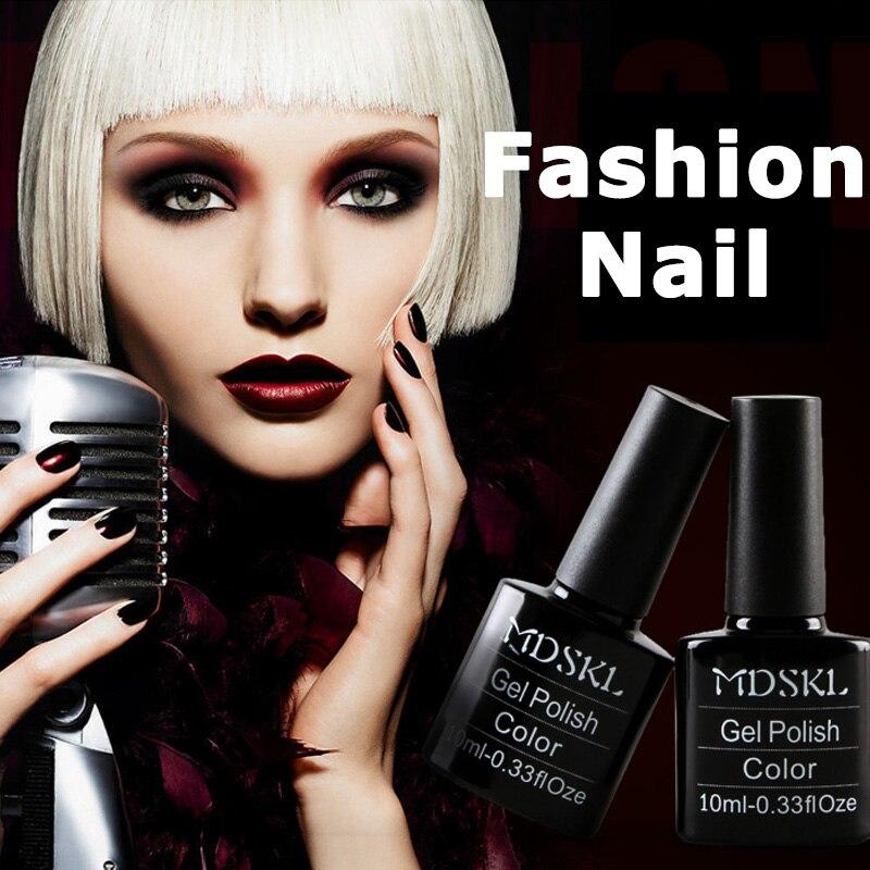 MDSKL132 Colors Nail Gel Polish Soak Off UV Colorful Nail Art For Gel Nail Polish Long-lasting UV Gel Lacquer Free Shipping