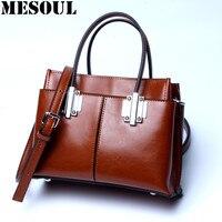 Women S Handbag Business Designer Tote Bag Brown Genuine Leather Shoulder Bags Female High Quality Vintage