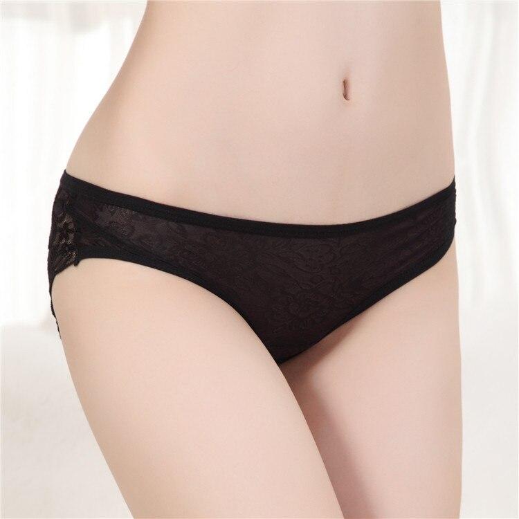 Online Shop Sexy womens underwear Briefs Back Hole Black Color ...