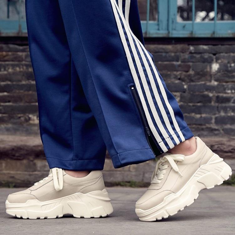2019 nouveau printemps et automne mode femmes chaussures véritable plate-forme baskets femmes dames formateurs chaussures décontractées