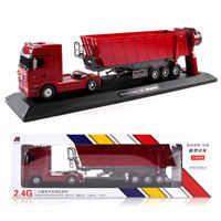 RC camión volquete basculante carrito de Control de Radio camión propina de elevación automática ingeniería contenedor coche modelo de vehículo juguetes regalo