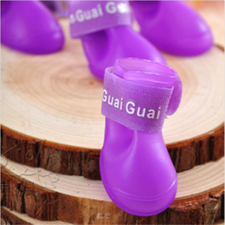 Colorful-Dog-Pet-Boots-Rubber-Water-Protective-Pet-Shoes-Booties-Waterproof-Rain-K033