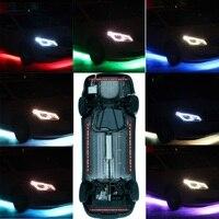 DC 12V Car Decoration Light Underglow Underbody Colorful LED Strips 12W Car Tube Light Kit