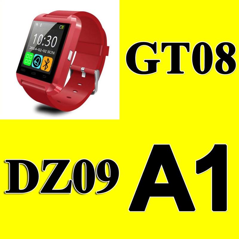 10pcs DZ09 GT08 U8 smart watch Phone Mate Bluetooth watch with Pedometer camera MTK6260 with retail box Christmas gift DHL free