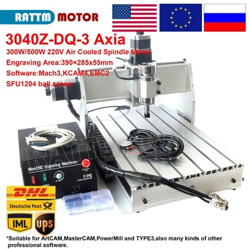 【EU STOCK】 3 Axis 3040 Z-DQ CNC 500W Spindle CNC ROUTER ENGRAVER ENGRAVING Milling Cutting DRILLING Machine Ballscrew 220V/110V acctek hot sale 4 axis cnc router engraving machinery 6012 cnc router engraver drilling and milling machine 6090