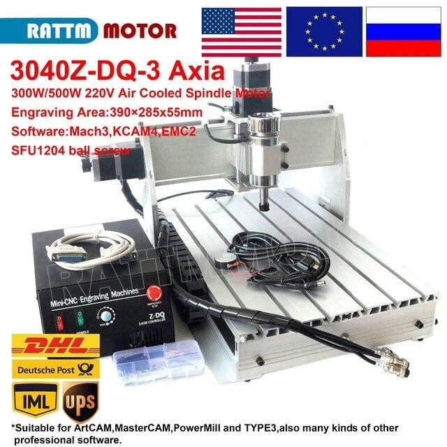 3 ציר 3040 Z DQ CNC נתב חריטת כרסום קאטר מכונת עם 500W ציר 220V / 110V