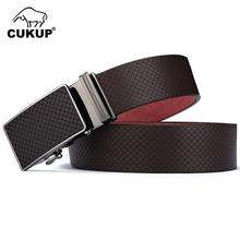CUKUP 2018 Mens New Designer Western Genuine Leather Belts Block Automatic Buckles Metal Dress Belt Accessories for Men NCK433