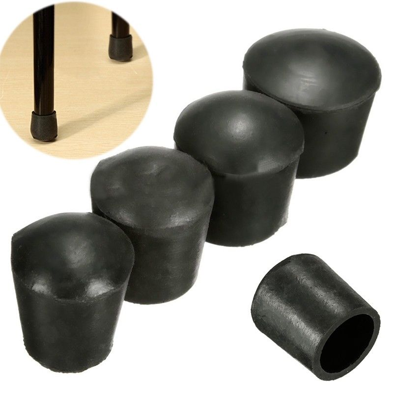 4pcs PE Plastic Round Chair Leg Caps Covers Rubber Feet Protector Pad Furniture Table Covers 16mm/19mm/22mm/25mm/32mm/40mm/50mm