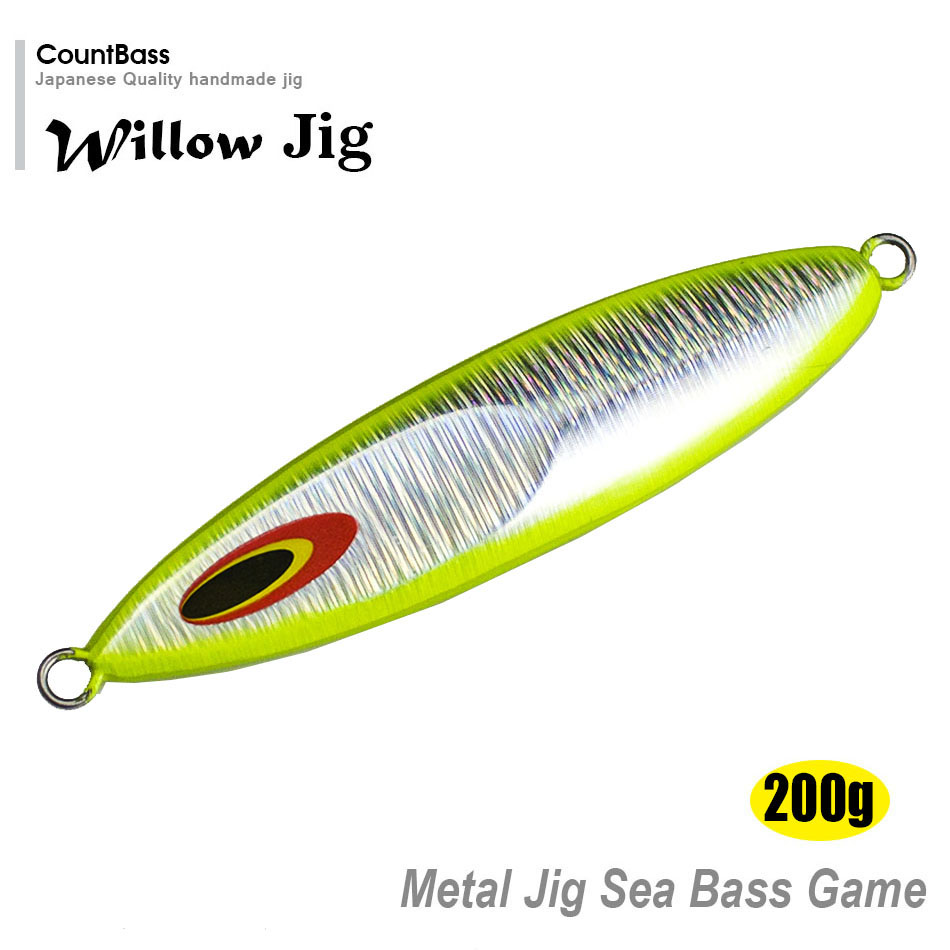 Retail 200g Countbass Sea Bass Jigging Lures, Metal Lead Fishing Slow Jigs to Japan, pesca jigging bait, atraer,  free shipping