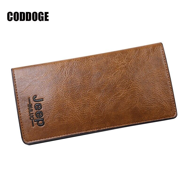 CODDOGE Fashion PU Leather Wallet Men Long Business Slim Wallet Multi-Card Bit Long Wallet Clutch Bag Male Card ID Money Purse