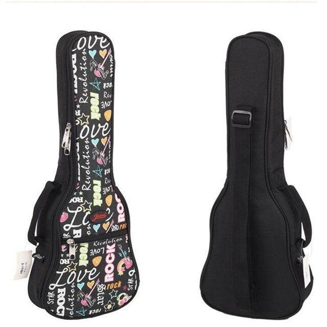 "girl gift 21""23 ""26 inches concert soprano ukulele guitar bag case package Lanikai Kala Ukes gig soft pink black shoulder straps"