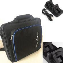 Multi-Функция PS4 Pro игры сумка чехол для хранения + двойной зарядная док-станция Зарядное устройство для Sony Playstation 4 Pro PS4 Pro