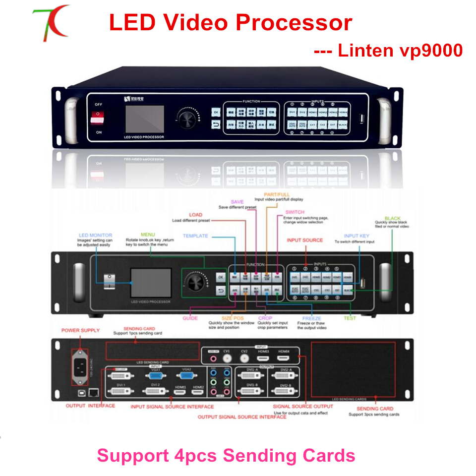 VP9000 Video Processor Widely,ultra Use For Huge Widely,ultra High Definition Led Screen