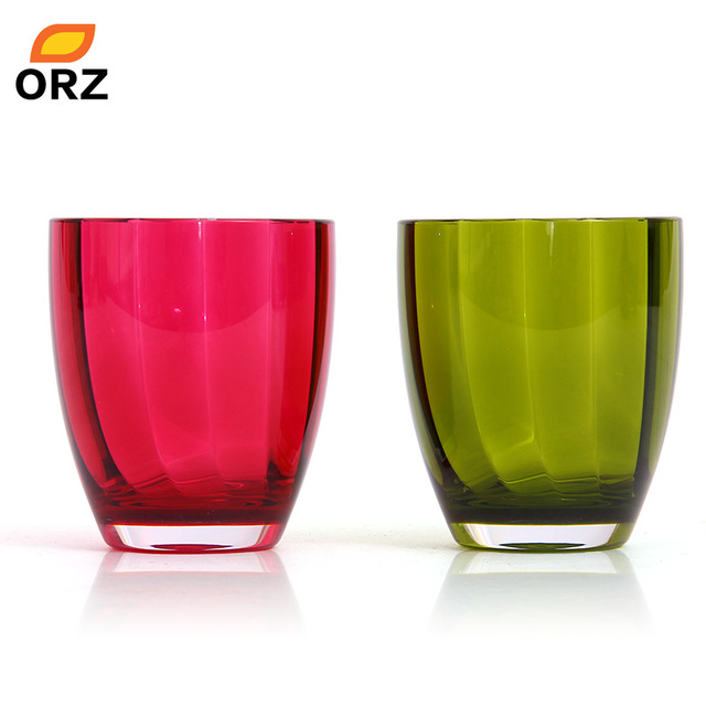 ORZ 2PCS Acrylic Tumbler Cup Bathroom Tooth Mug Tooth Brush Holder Cold Water Juice Cup Gift For Lovers Bathroom Accessories